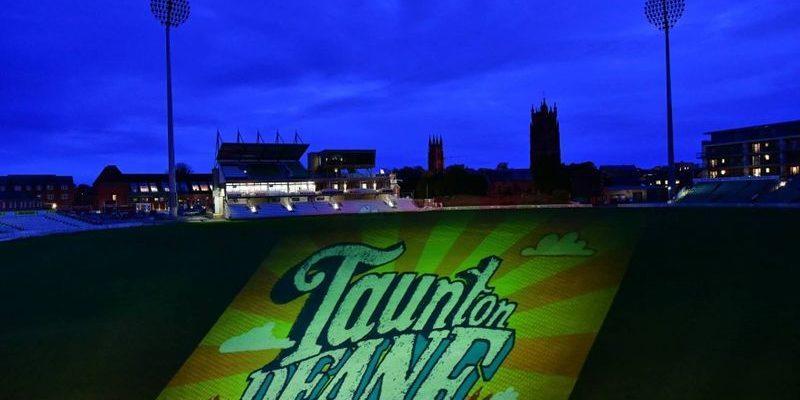 BARCLAYS Taunton Deane logo Somerset Cricket pitch