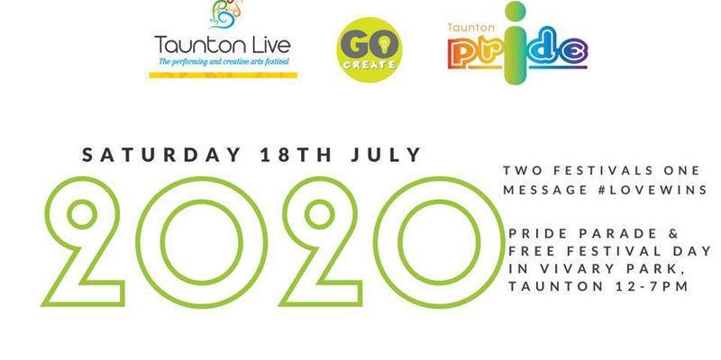 Taunton Live 2020 and Taunton Pride logo