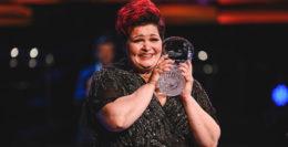 Huish Claire Barnett Jones with trophy